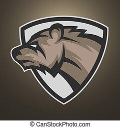 The bear symbol, emblem or logo.