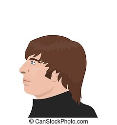 November 19.2017 . Editorial illustration of the Beatles band member Ringo Starr on white background. The World Beatles Day January 16th topic.