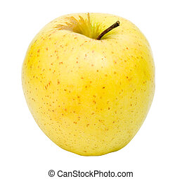 The beautiful apple on a white background