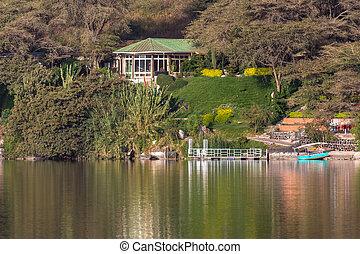 Babogaya Lake - The beautiful Babogaya Lake warmly lit by...