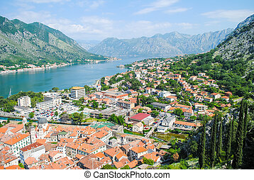 The beautiful Bay of Kotor in Montenegro.