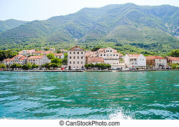 The beautiful Bay of Kotor in Montenegro.