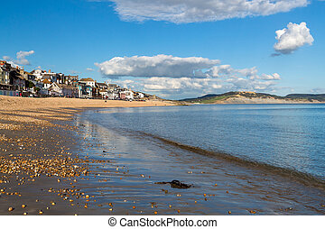 Lyme Regis Dorset - The beautiful beach at Lyme Regis Dorset...