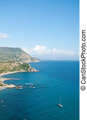 """the beautiful beach of """" grotticelle """" at capo Vaticano in Calabria, italy"""