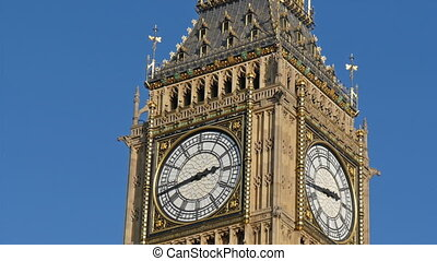 The beautiful Big Ben in London under the nice weather