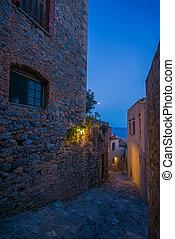 The beautiful Byzantine castle town of Monemvasia