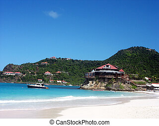 The beautiful Caribbean beach