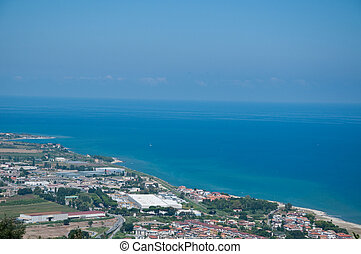 the beautiful city in Calabria vibo marina view from above