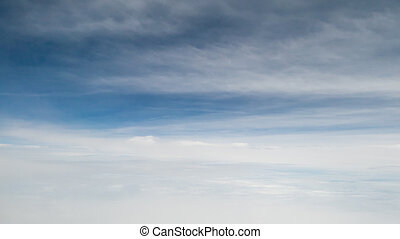 The beautiful cloudy and blue sky