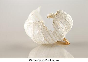 The beautiful form of garlic bulb