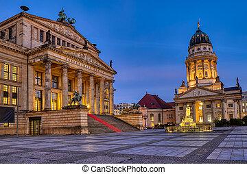 The beautiful Gendarmenmarkt square in Berlin