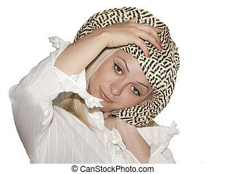 beautiful girl in a hat