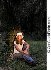 The beautiful girl in jungle Congos.