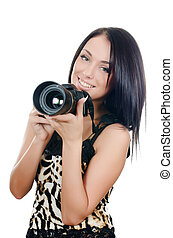 The beautiful girl with the camera