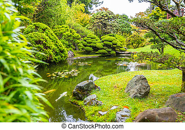 The Beautiful Japanese Tea Garden in Golden Gate park, San ...