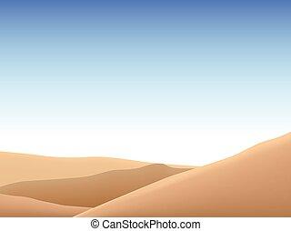 The beautiful landscape in the vast desert vector.