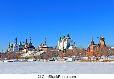 The beautiful landscape of Moscow. - Beautiful winter...