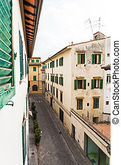 The beautiful narrow streets