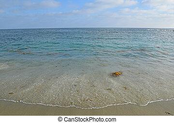 The beautiful ocean colors of Laguna Beach, California.