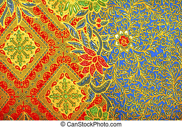 The beautiful of art Malaysian and Indonesian Batik Pattern...