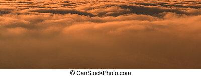 sundown - the beautiful orange sundown background