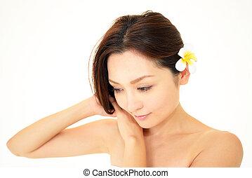 The beautiful Oriental woman
