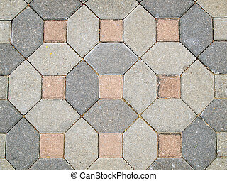 The beautiful patterns on the brick walkway