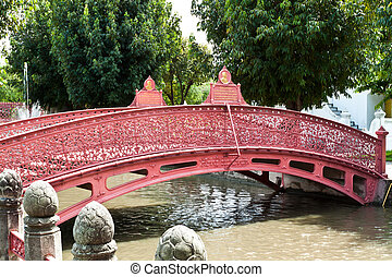 The beautiful red bridge.