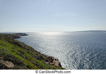 The beautiful Sardinian coastline in summertime