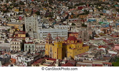 the beautiful skyline of the city of guanajuato, mexico....