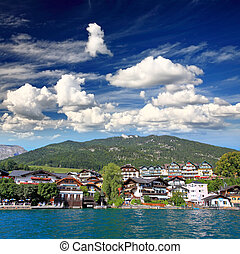The beautiful St. Wolfgang in Lake district near Salzburg Austria
