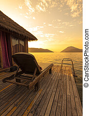 The beautiful tropical resort scenery