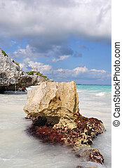 tulum beach - the beautiful tulum beach in mexico