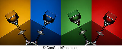 wine glass - the beautiful wine glass with beverage,...