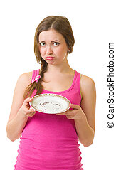 woman with plate