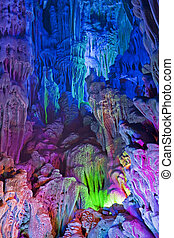China - The beautifully illuminated Reed Flute Caves...