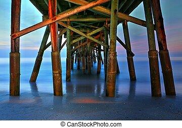 Beneath Flagler Beach Pier