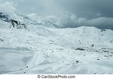 Snow Covered Mountains of the Himalaya Mountain Range