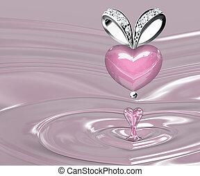 The beauty rose quartz pendant