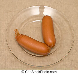 The beef sausages.