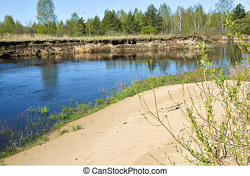 The beginning of may on a protected river.