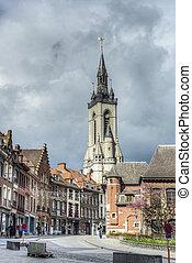 The belfry (French: beffroi) of Tournai, Belgium - The ...