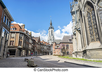 The belfry (French: beffroi) of Tournai, Belgium - The...