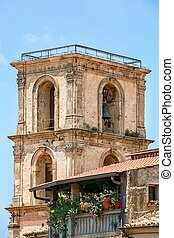 The belfry in city Vibo Valentia, Italy