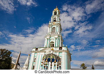 The Belfry in The Holy Trinity Lavra of St. Sergius in...