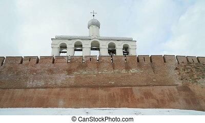 The belfry of Novgorod Kremlin, Veliky Novgorod, Russia