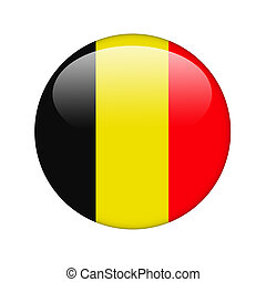 The Belgian flag in the form of a glossy icon.