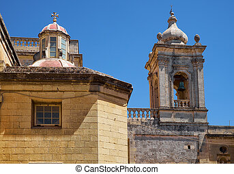 The bell and lantern tower of the Collegiate Church of St Paul, Rabat, Malta