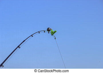 The bell on the fishing rod. spinning equipment