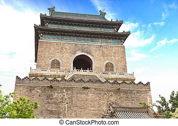 The Bell Tower in Beijing, China